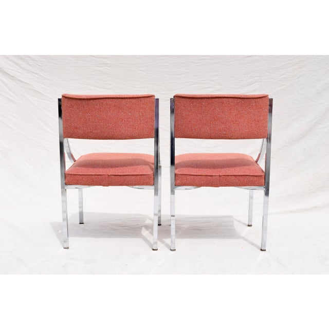 Wolfgang Hoffman Howell Chrome Dining Chairs For Sale In Philadelphia - Image 6 of 8