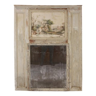 18th Century French Countryside Trumeau Mirror