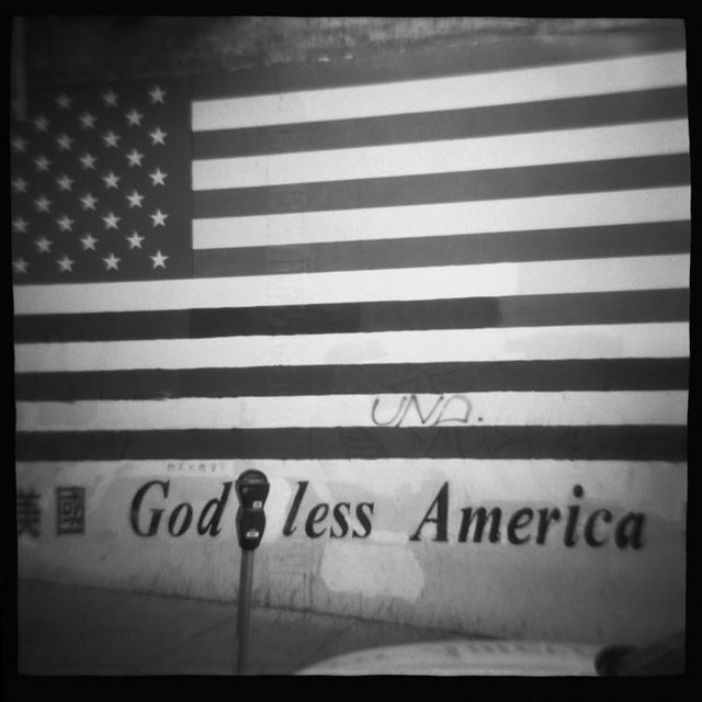 """God Less America,"" Vintage Film Camera photograph, toy camera image from the series ""Homeland."" San Francisco, CA. 10x10..."