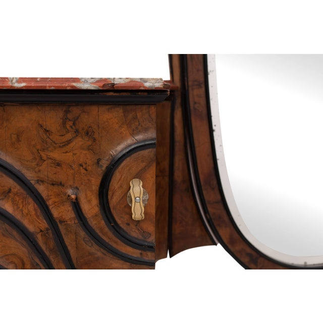 Brass Art Nouveau Vanity Console For Sale - Image 7 of 11