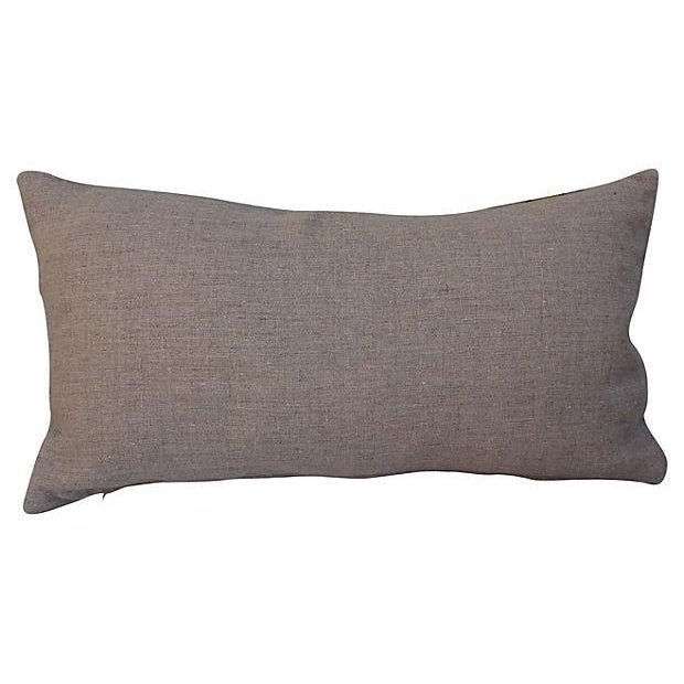 African Raffia Lumbar Pillow For Sale - Image 4 of 4