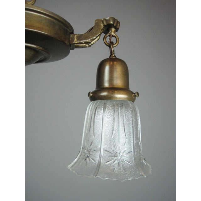 Original Antique Pan Light Fixture (2-Light) - Image 7 of 7