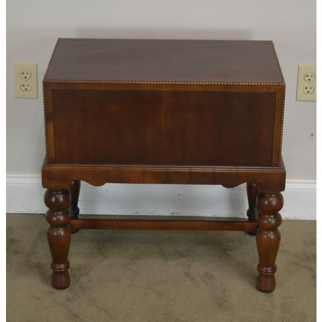 1990s Sherrill Occasional Small Cherry One Drawer Side Table For Sale - Image 5 of 12
