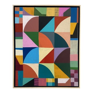 """""""Pattern Play"""" Contemporary Abstract Acrylic Painting by Poppy Dodge, Framed For Sale"""