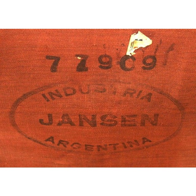 Labeled Jansen Fine Pair of Oversized Side or Desk Chairs in Parcel Gilt Paint For Sale - Image 9 of 13
