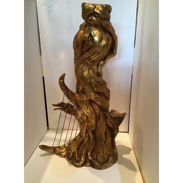 Mid-Century Modern Mid Century Regency Arc Pixie Gold Nymph Statue For Sale - Image 3 of 8