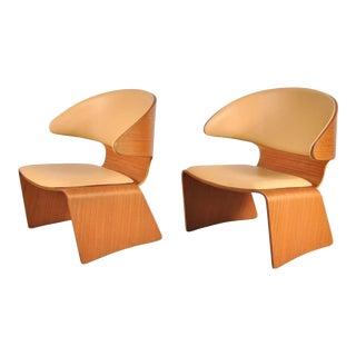 Pair of Bikini Chairs by Hans Olsen for Frem Rojle, Denmark, circa 1960