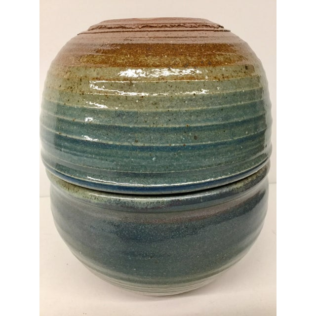 Vintage Hand Thrown Clay Bowls - A Pair For Sale - Image 10 of 13