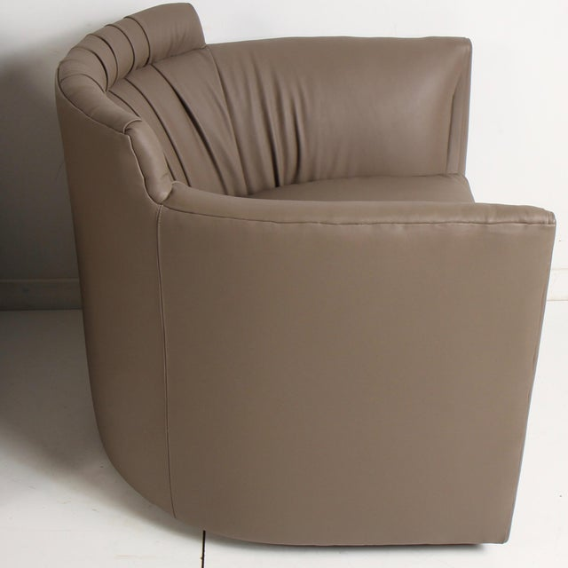 Leather John Saladino for Baker Leather Lounge Chairs For Sale - Image 7 of 12
