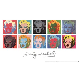 Andy Warhol_Ten Marilyns (White Background)_1997 For Sale
