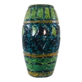 1960s Bitossi Style Italian Pottery Vase For Sale
