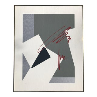 Abstract Black and White Painting, 1970s