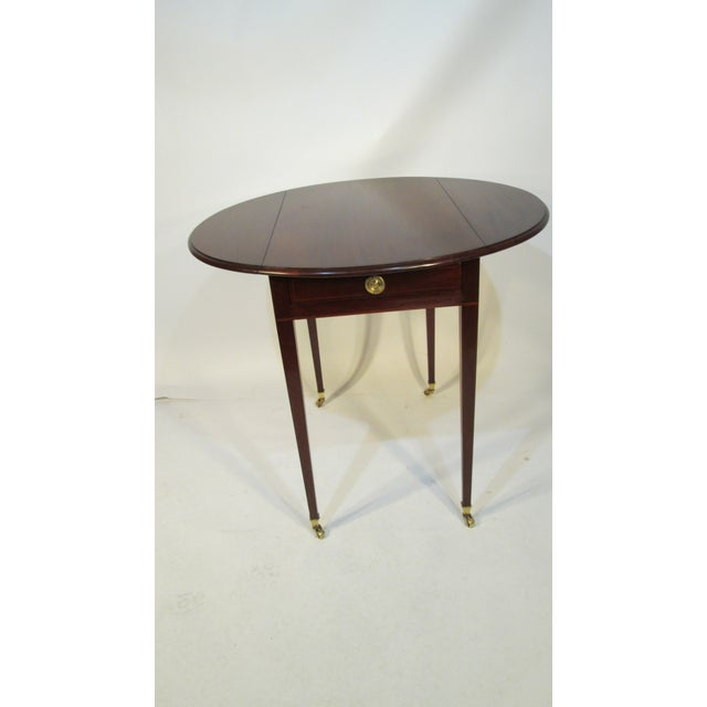 Traditional Beacon Hill Collection Pembroke Table For Sale In Portland, ME - Image 6 of 12