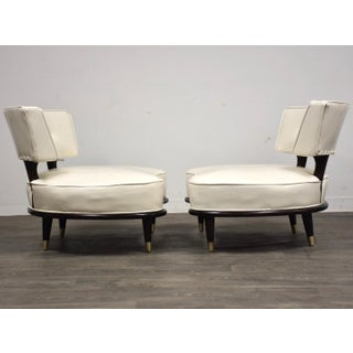 Italian Style White Oversized Lounge Chairs- a Pair Preview