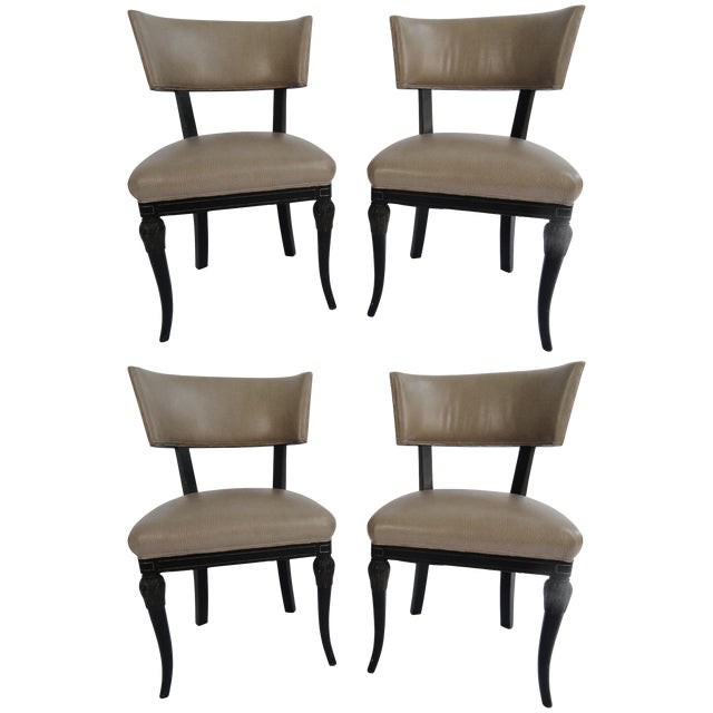 Vintage Mid Century Maison Jansen Side Chairs - Set of 4 For Sale