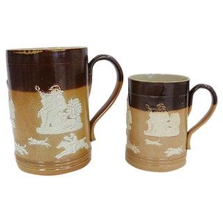 Royal Doulton Hunt Scene Ale Mugs - a Pair