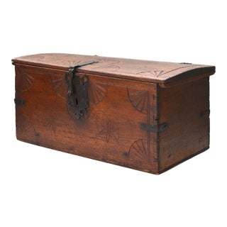 Magnificent 18th Century Spanish Colonial Domed Trunk For Sale