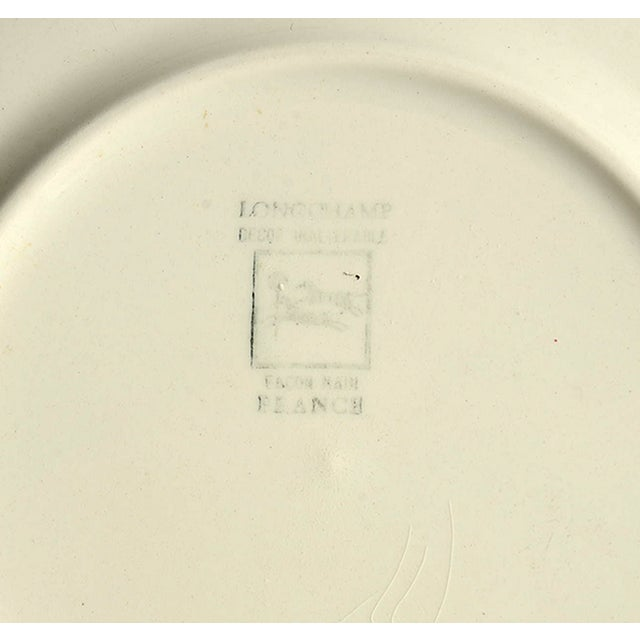 Early 20th Century Longchamp Moustiers Appetizer Plate - Set of 8 For Sale - Image 5 of 6