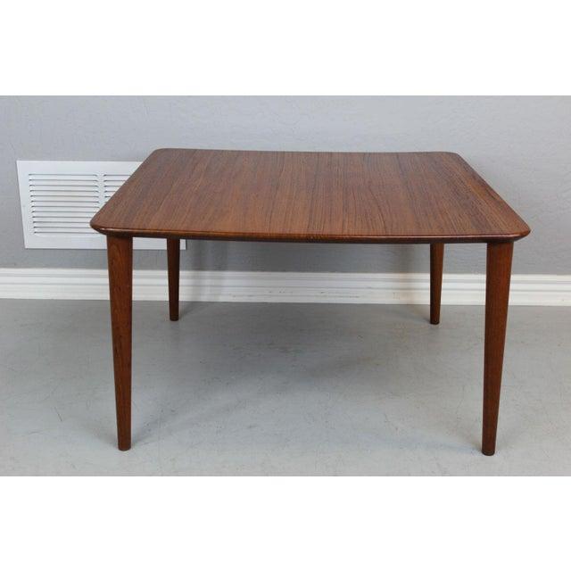 Early Finn Juhl solid teak end table manufactured by France & Daverkosen in 1959.