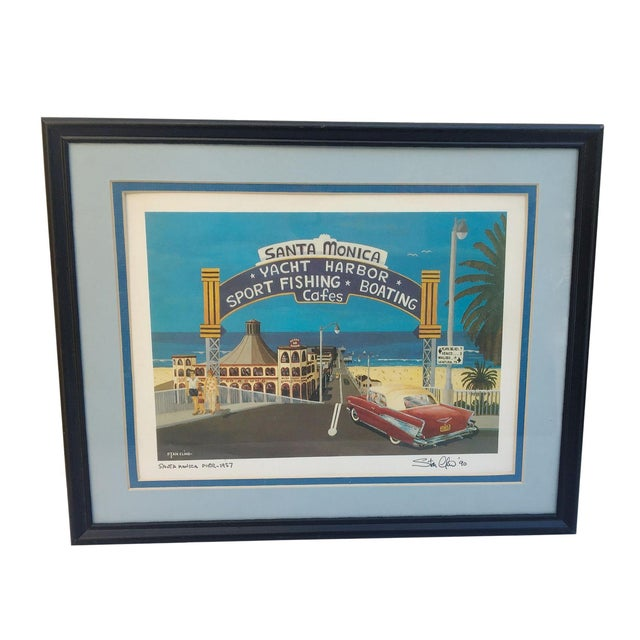 Santa Monica Pier Lithograph by Stan Cline - Image 1 of 4