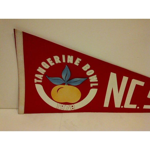 "Contemporary Vintage 1978 NCAA ""NC State"" Pennant Flag For Sale - Image 3 of 5"