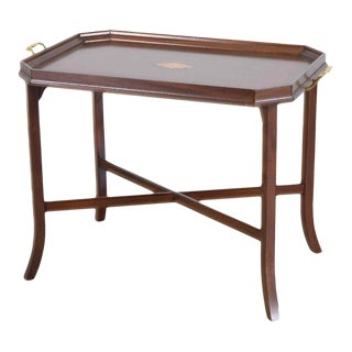 Mahogany Tray Table / Coffee Table For Sale