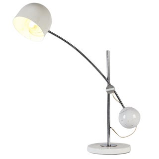 Large White Arch Desk Lamp by Sonneman For Sale