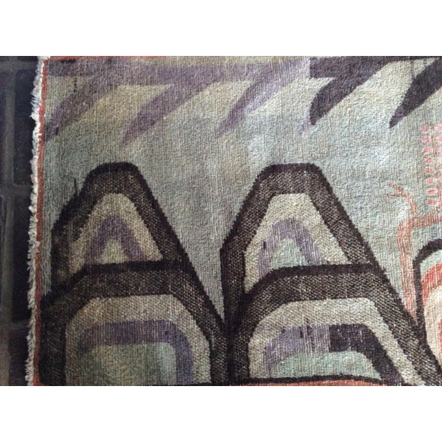 Mid-Century Turkish Landscape Motiff Rug - 5′2″ × 8′8″ - Image 6 of 10