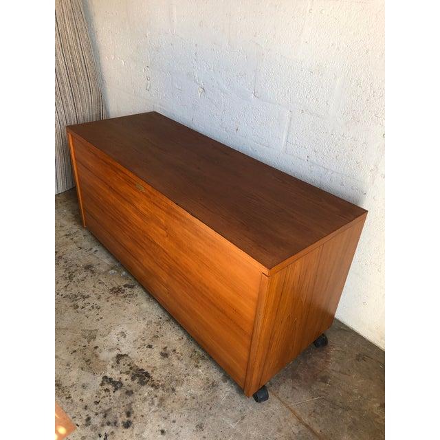 Wood Vintage Mid Century Danish Modern Three Sided Desk by Jesper International For Sale - Image 7 of 13