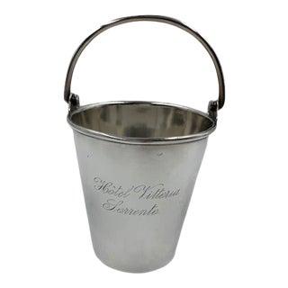 "1960s B. Bohrmann Silver Pale Engraved ""Hotel Vittoria Sorrento"" For Sale"