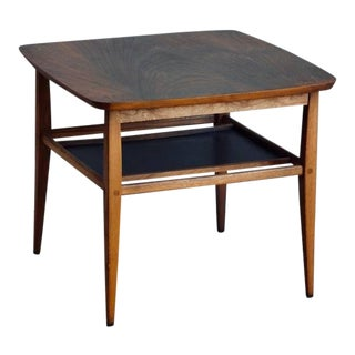 Walnut Side Table by Lane For Sale