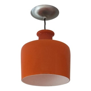 Danish Modern Style Orange Glass Pendant