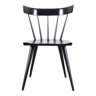 Paul McCobb Planner Group Mid-Century Modern Black Lacquered Spindle Back Dining Chairs, Newly Restored For Sale