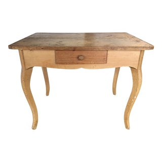 20th Century Rustic Farm Table/Writing Desk For Sale