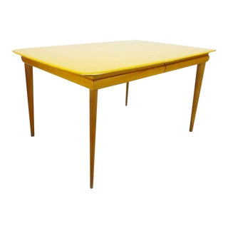 1950s Mid Century Modern Heywood Wakefield Birch Dining Table For Sale