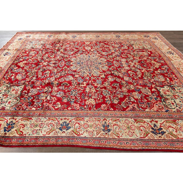 """Antique Mahal Rug, 9'5"""" X 12'8"""" For Sale In New York - Image 6 of 7"""
