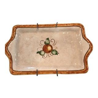 Authentic Vietri Fruit Plate For Sale