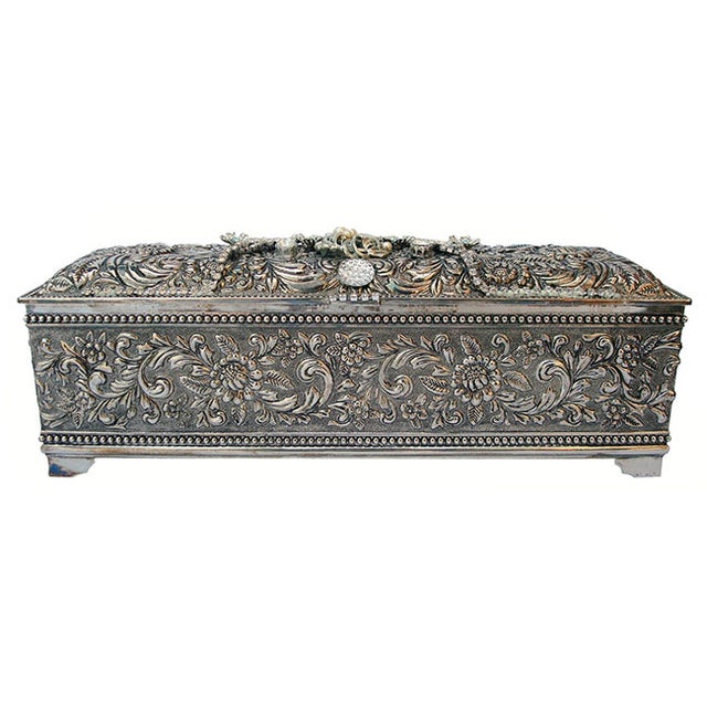 Bejeweled Vintage Keepsake Box - Image 1 of 8