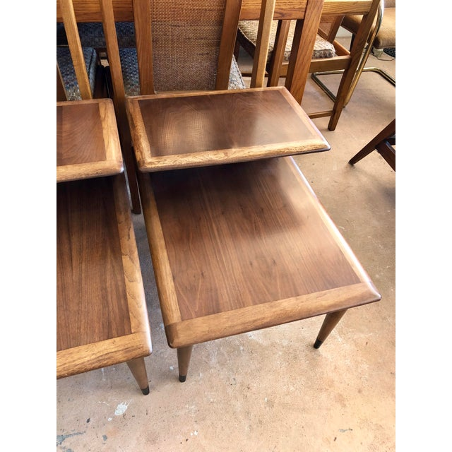 Mid-Century Modern 1963 Mid Century Modern Lane Walnut Step Side Tables - a Pair For Sale - Image 3 of 6