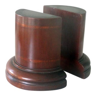 Vintage Mahogany Bookends - a Pair For Sale