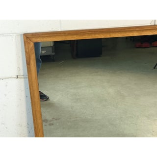 1960s Ash Wood Rectangular Wall Mirror Preview