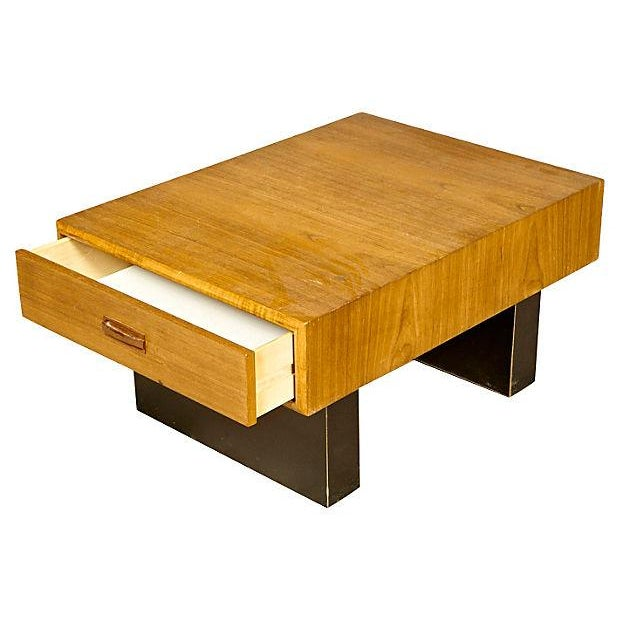 Teak & Black Painted Coffee Table | Chairish