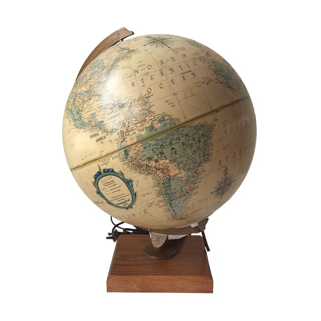 1970 Topographical Light Up Globe - Image 1 of 5