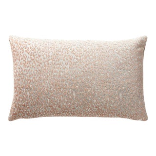 Aldeco Leopard Lumbar Pillow in Pink For Sale