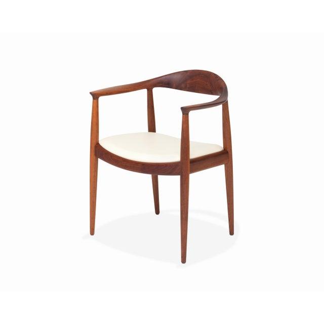 Brown Vintage Danish Modern Teak Jh 503 Chair by Hans Wegner For Sale - Image 8 of 8