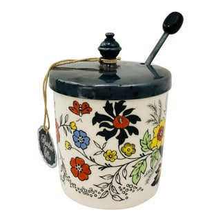 Antique Staffordshire Mustard Container Jar For Sale