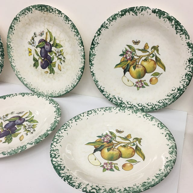 Italian Tre Ci Fruit Plates - Set of 6 For Sale - Image 10 of 11