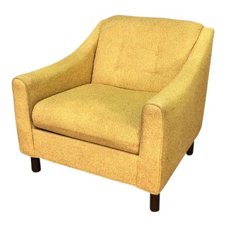 Gold Tweed Selig of Monroe Mid-Century Modern Lounge Chair For Sale