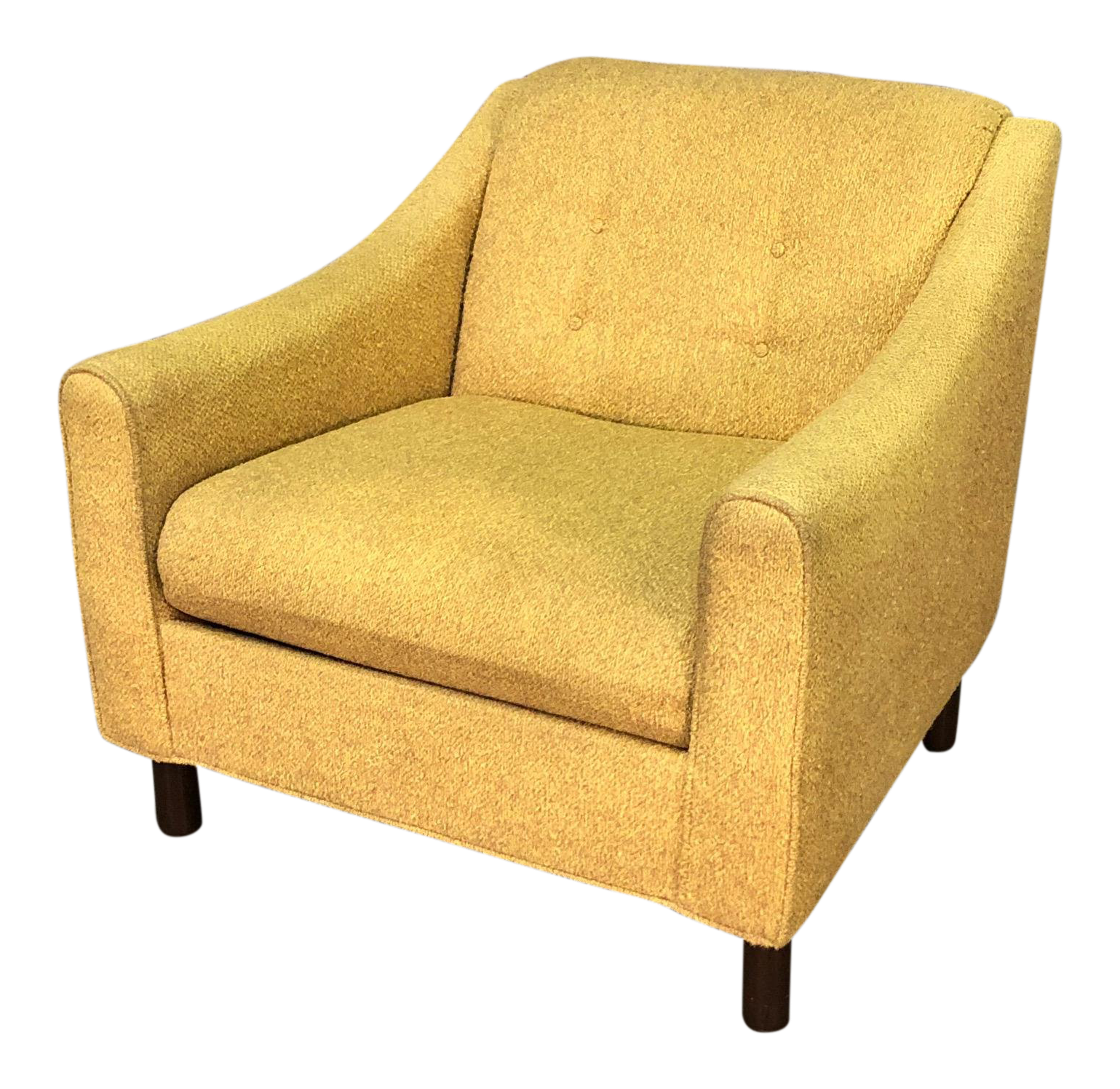 Gold Tweed Selig Of Monroe Mid Century Modern Lounge Chair