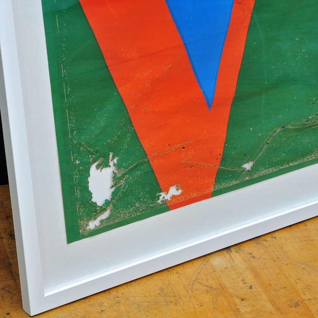 Mid-Century Modern 1970s Robert Indiana Love Serigraph Poster Patina Modernist Decay Pop Art Warhol For Sale - Image 3 of 5